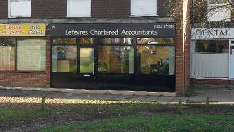 Lefevres Chartered Accountants and Chartered Tax Advisers office as seen from the road, Bell Lane.